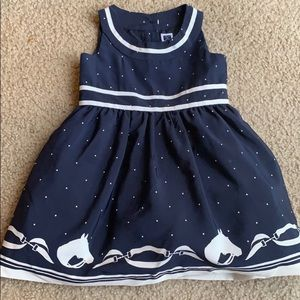 Janie&Jack size 6-12 month navy & white equestrian